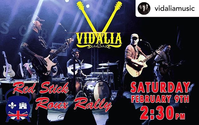 @vidaliamusic will play this Saturday starting at 2:30, don't forget to get your tickets at rouxrally.com doors open at 11 am!