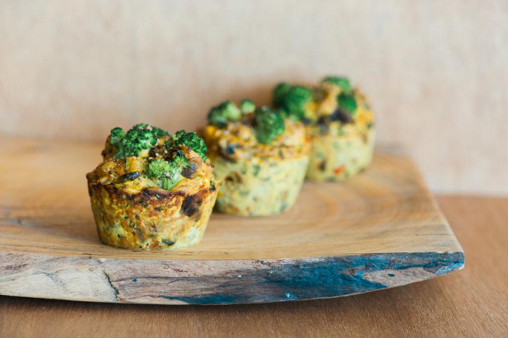 herb tofu | veggie quiche - breakfast menu