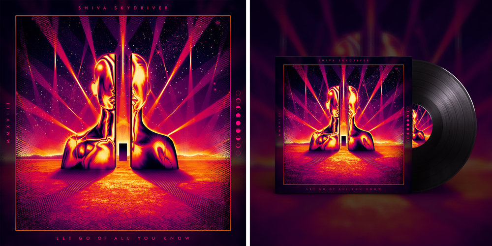 Shiva Skydriver  Album Cover Illustration / Design / Art Direction