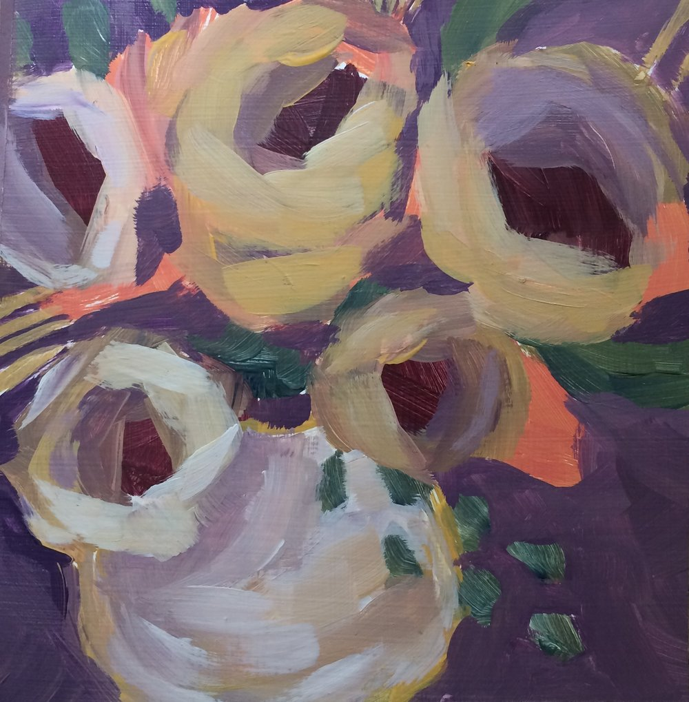 128 Frenetic 6x6 Acrylic Expressive Original Painting - Lisa Cohen.jpg
