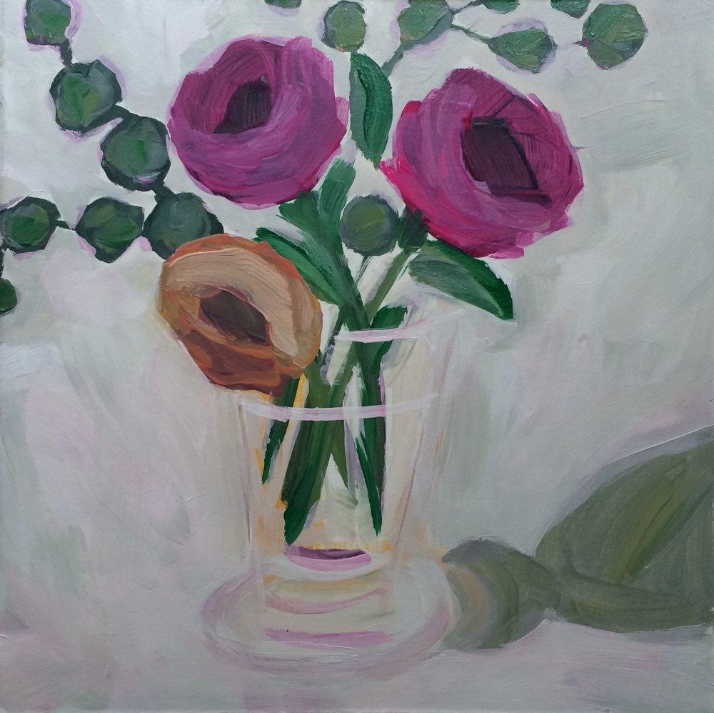 129 Sweet Simiplicity 6x6 Acrylic Expressive Original Painting - Lisa Cohen.jpg