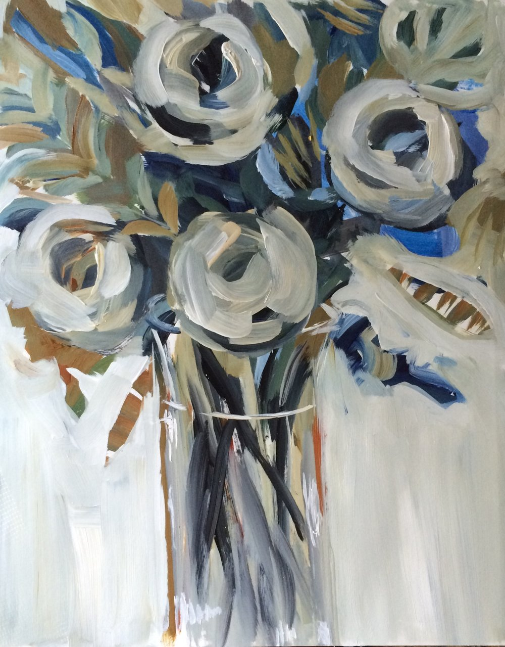 134 Stand Tall - Expressive Acrylic Painting - 11%22x14%22 - Lisa Cohen.jpg