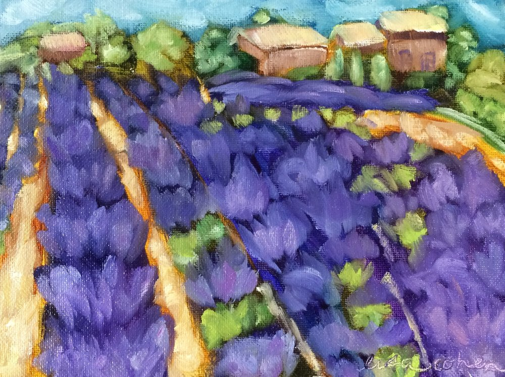 118 Fields of Lavender - Expressive Oil Painting - Lisa Cohen.jpg
