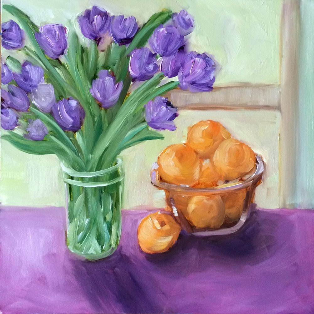 94 Spring Beginnings 6x6 original oil still life Lisa Cohen.jpg