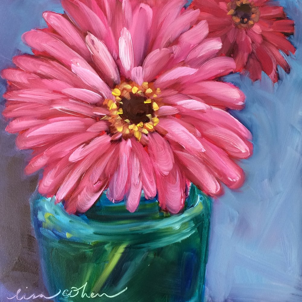 100 Glow - Expressive Florals - Daily Painting - Lisa Cohen.jpg