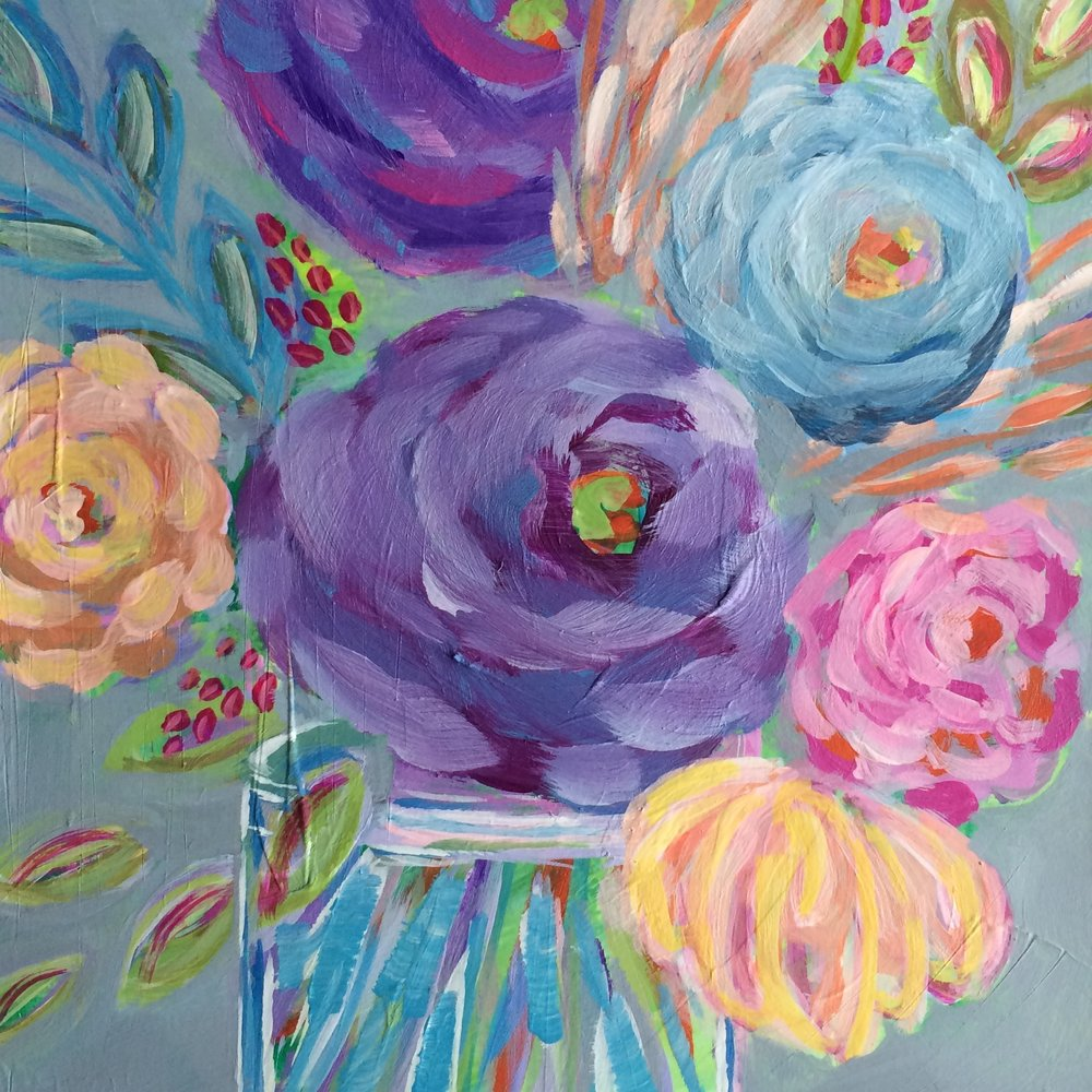 72 Jubilee Bouquet - Original Floral Abstract Expressionist Painting - Lisa Cohen.jpg