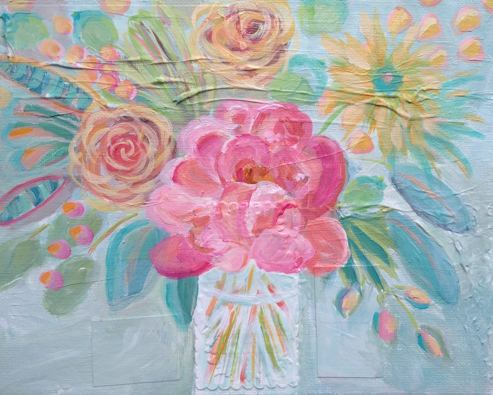 54 Sun Blooms - Original Floral Abstract Expressionist  Painting - Lisa Cohen.jpg