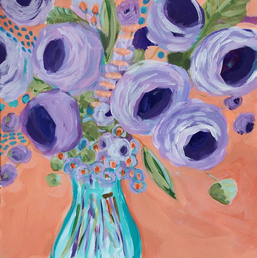 43 Abundance Floral Expressionism Acrylic Bouquet Lisa Cohen.jpg