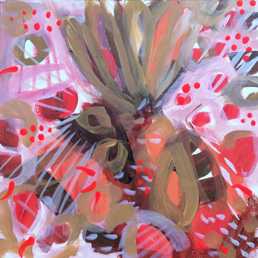 49 - Winter Berries - Original Abstract Painting - Lisa Cohen.jpg