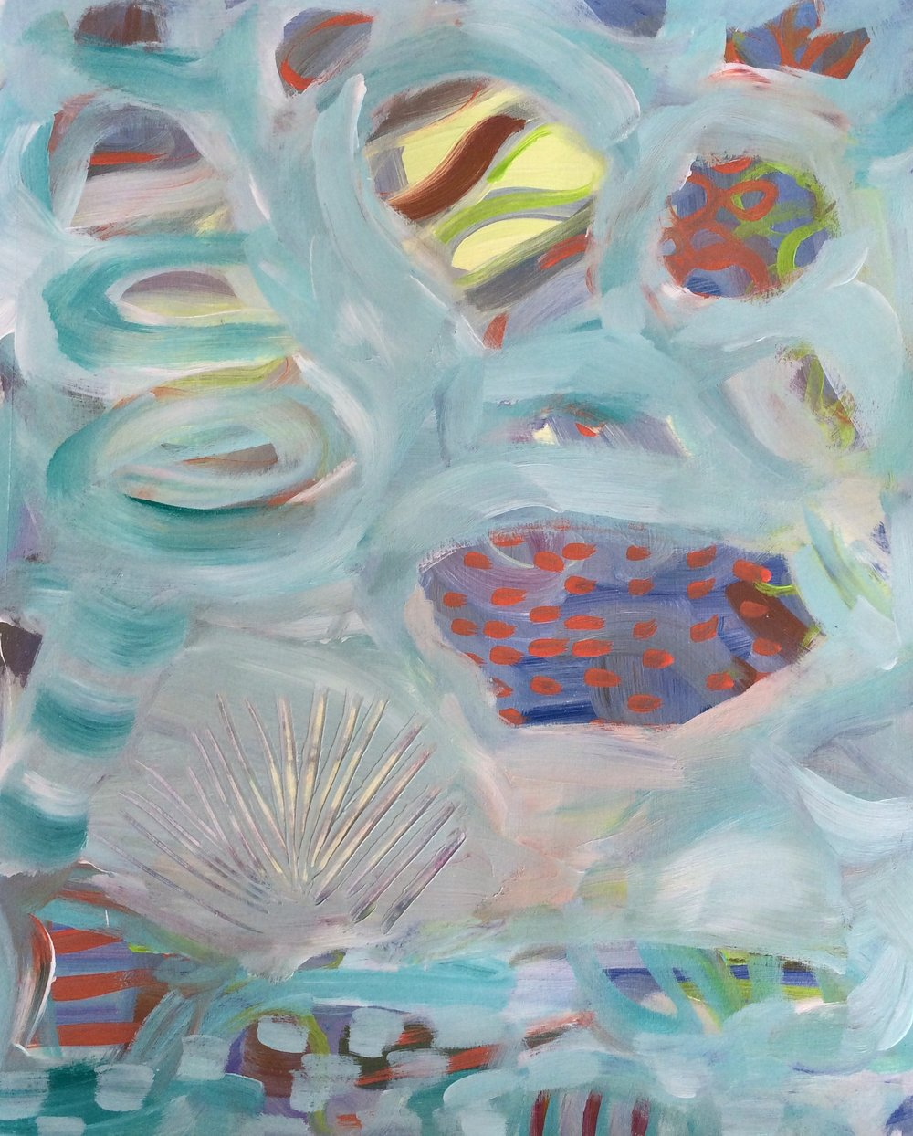 157 Gasping for Air - Acrylic Abstract - Lisa Cohen