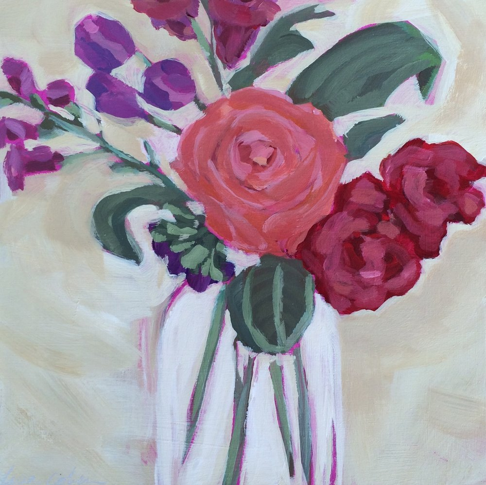 167 True North - Abstract Expressive Floral Original Painting - Lisa Cohen.jpg