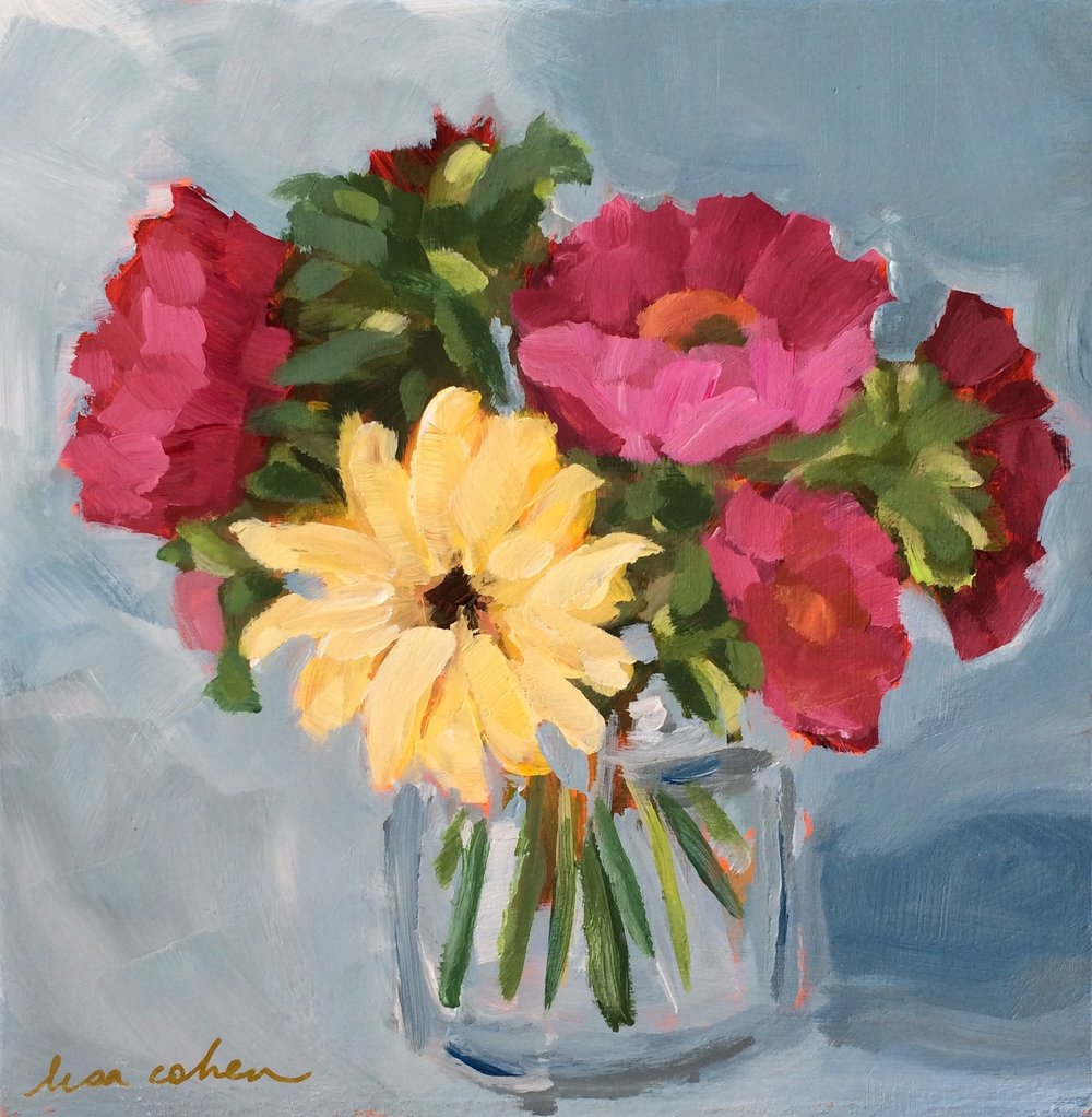 162 As The Mood Commands - Abstract Expressive Floral Original Painting - Lisa Cohen.jpg