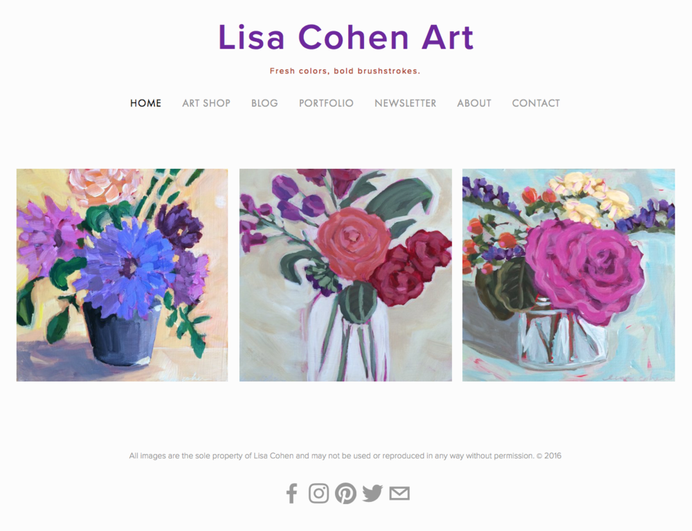 Lisa Cohen Art - Contemporary Expressive Painter