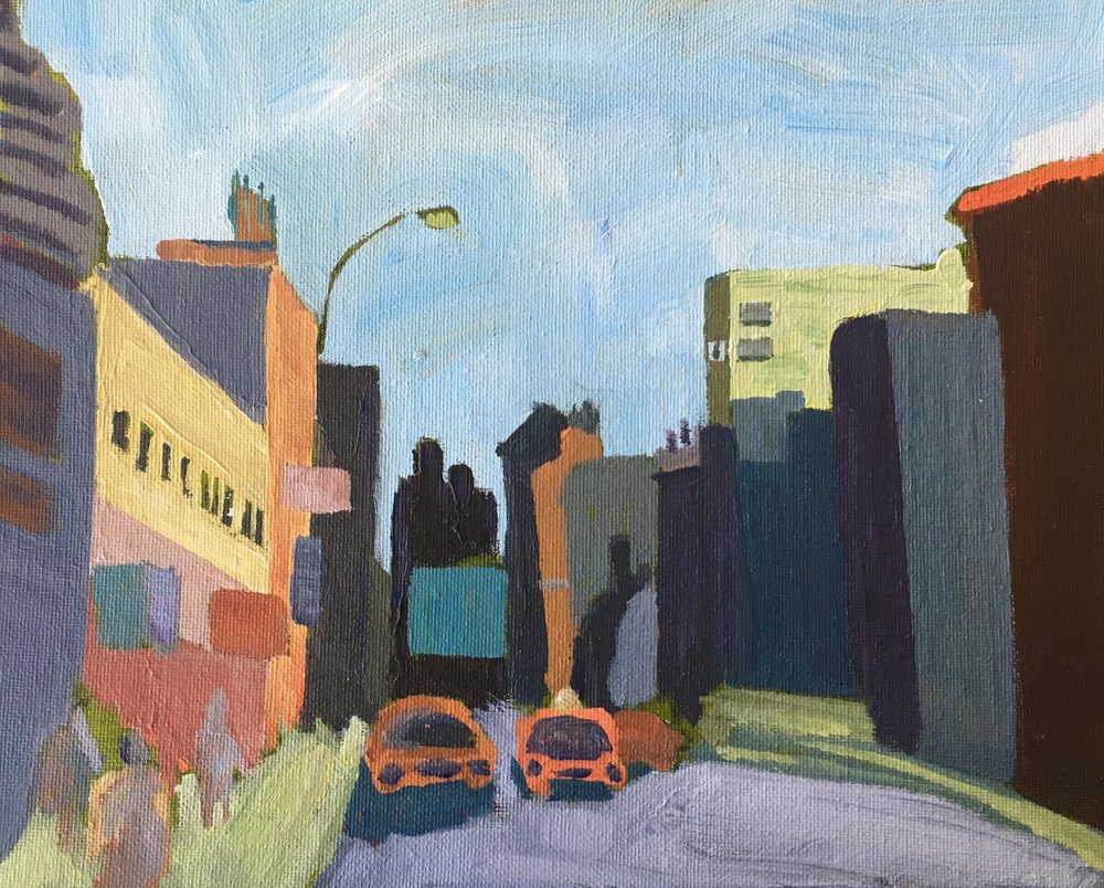 197 City Sky - Acrylic Painting - Lisa Cohen