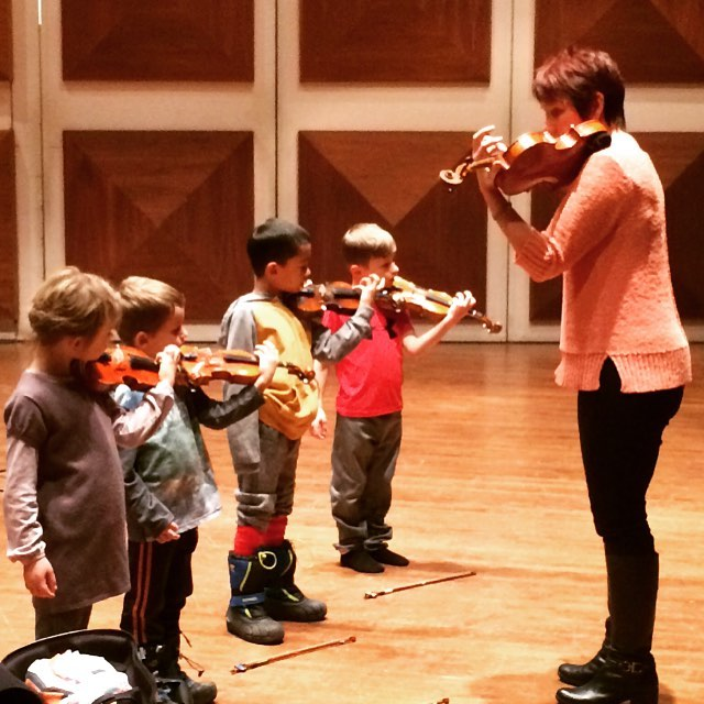 Laurier String Academy master class with Dr. Brenda Brenner, December 2016