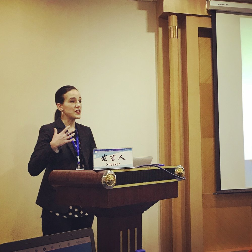 Presenting a research paper at the 5th Annual International Conference on Reciprocal Learning between Eastern and Western Education, May 2018
