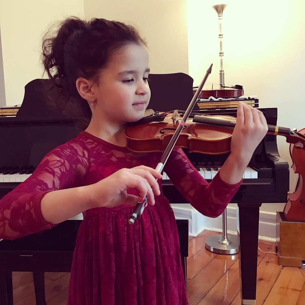 Windsor String Academy student, Lily (Age 6)