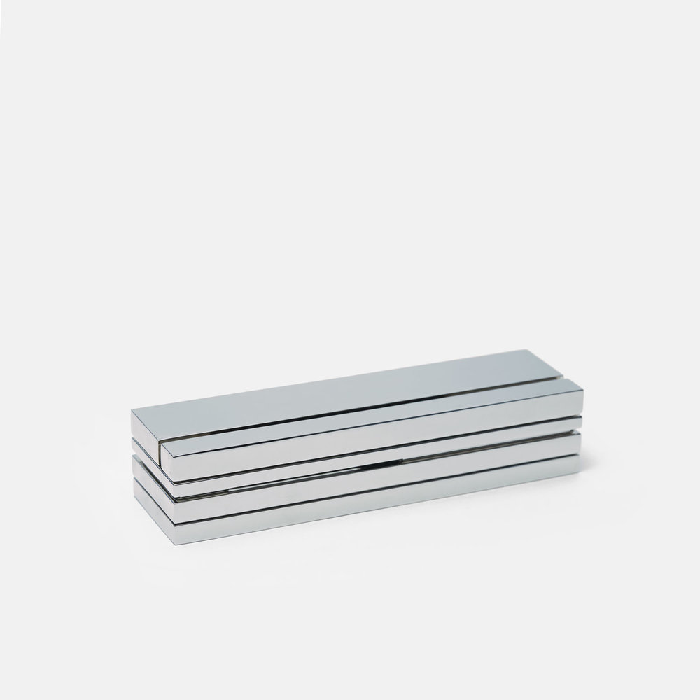 TALL BOX BURNER   Polished Nickel