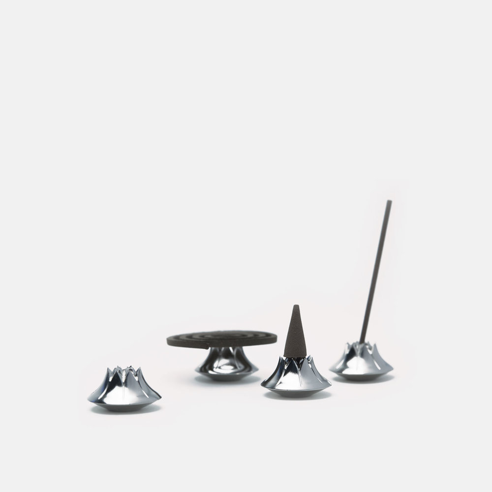 AGAVE INCENSE HOLDER   Satin Nickel