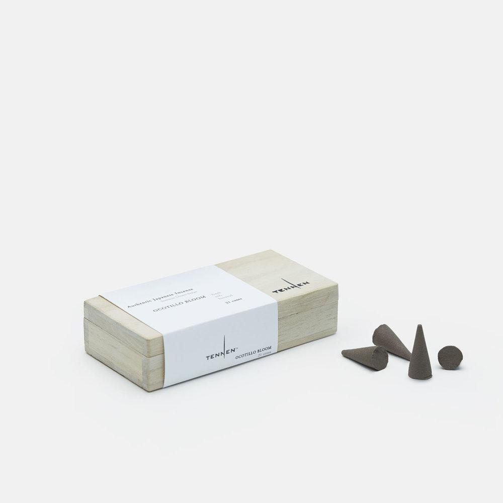 Sonoran Desert Series    OCOTILLO BLOOM   fresh, soft, uplifting   cone box of 21