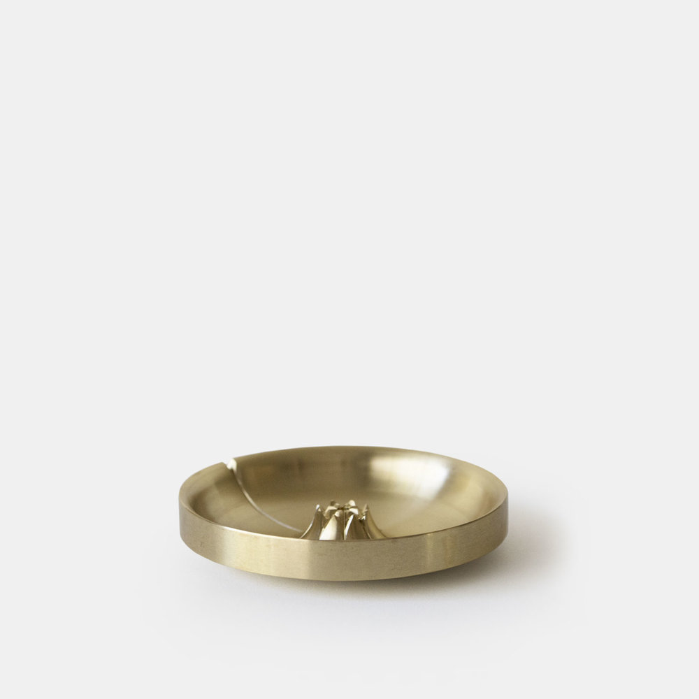 AGAVE BASIN BURNER   Satin Brass