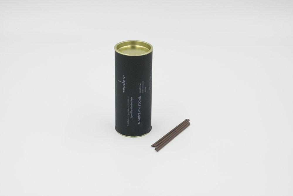 Japan Dry Garden Series    MOUNTAIN STONE   weathered, sandalwood, quiet   short stick cylinder of 100