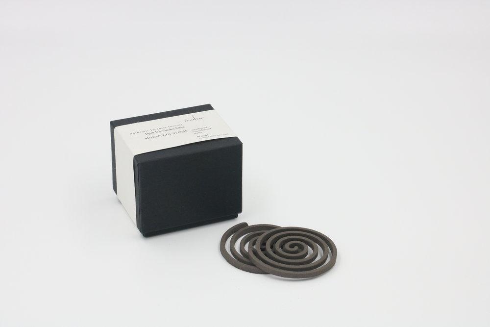 Japan Dry Garden Series    MOUNTAIN STONE   weathered, sandalwood, quiet   spiral box of 10