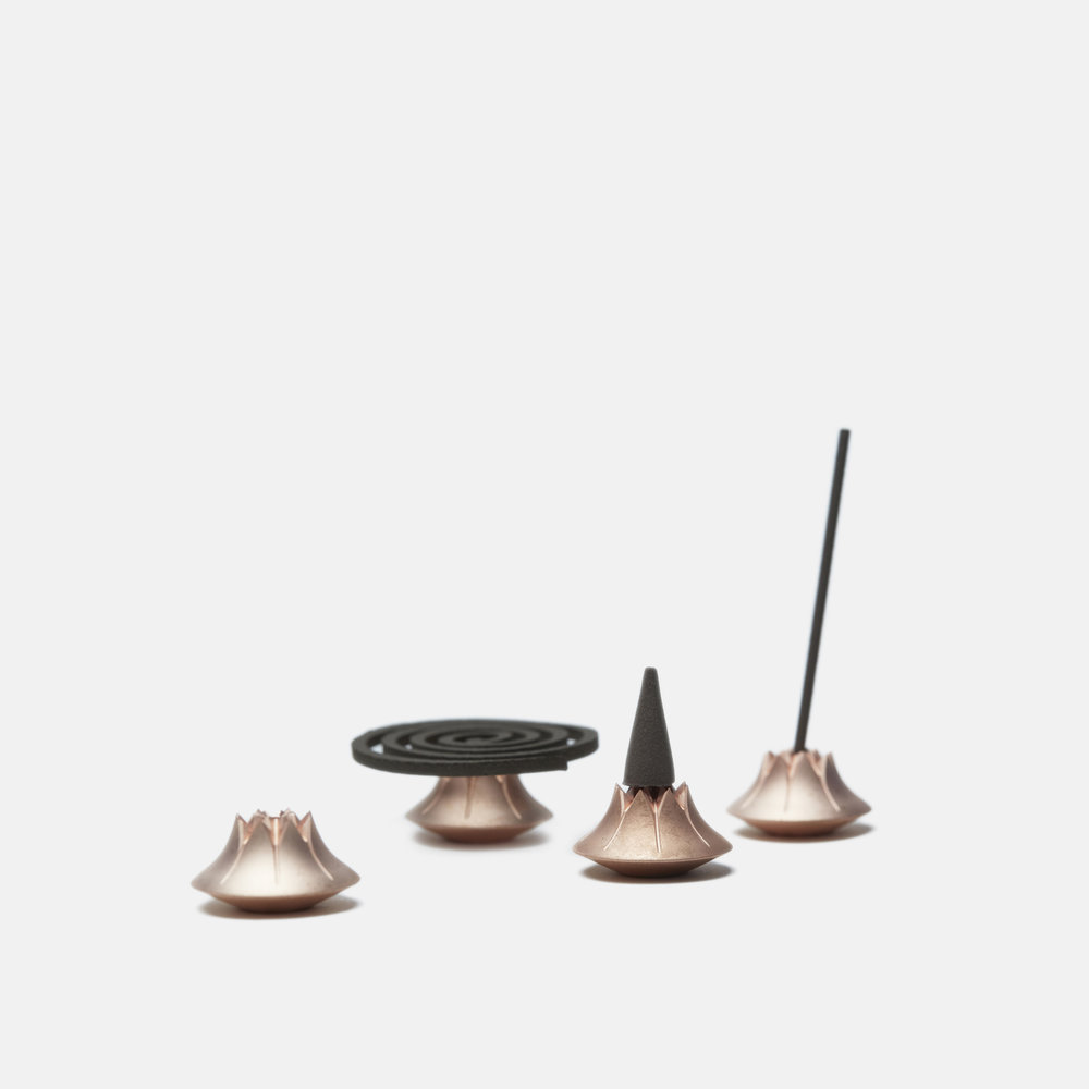 AGAVE INCENSE HOLDER   Copper