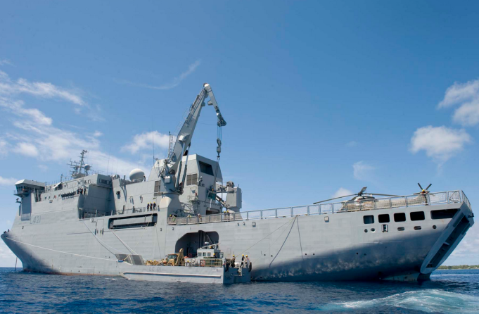 HMNZS Canterbery MID