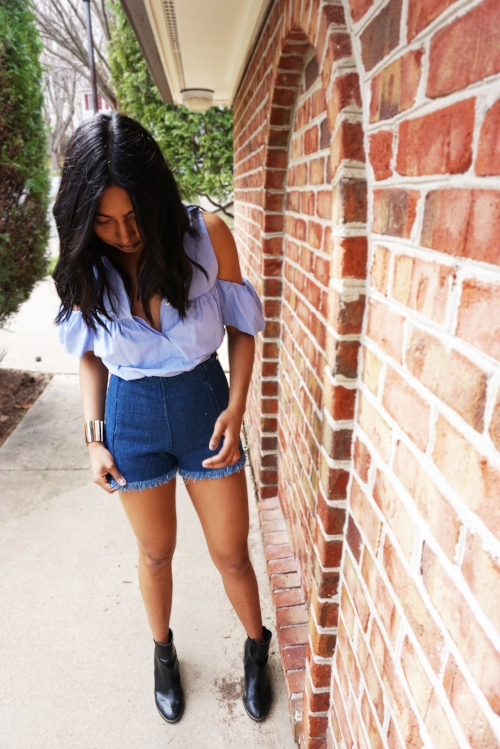 Top -Zara Shorts -Zara Shoes -H&M