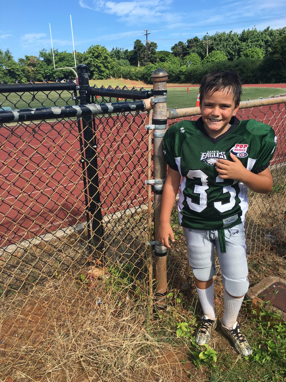 My youngest in Pop Warner Football