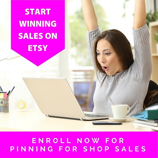 Hey mama! Let me steal just a minute of your day so I can tell you about my new course, Pinning for Shop Sales. I'm sharing my very own Pinterest strategy that leads to 30% of my six-figure Etsy income. This course will never be priced this low again, so please don't miss out! Link to the course is in the bio