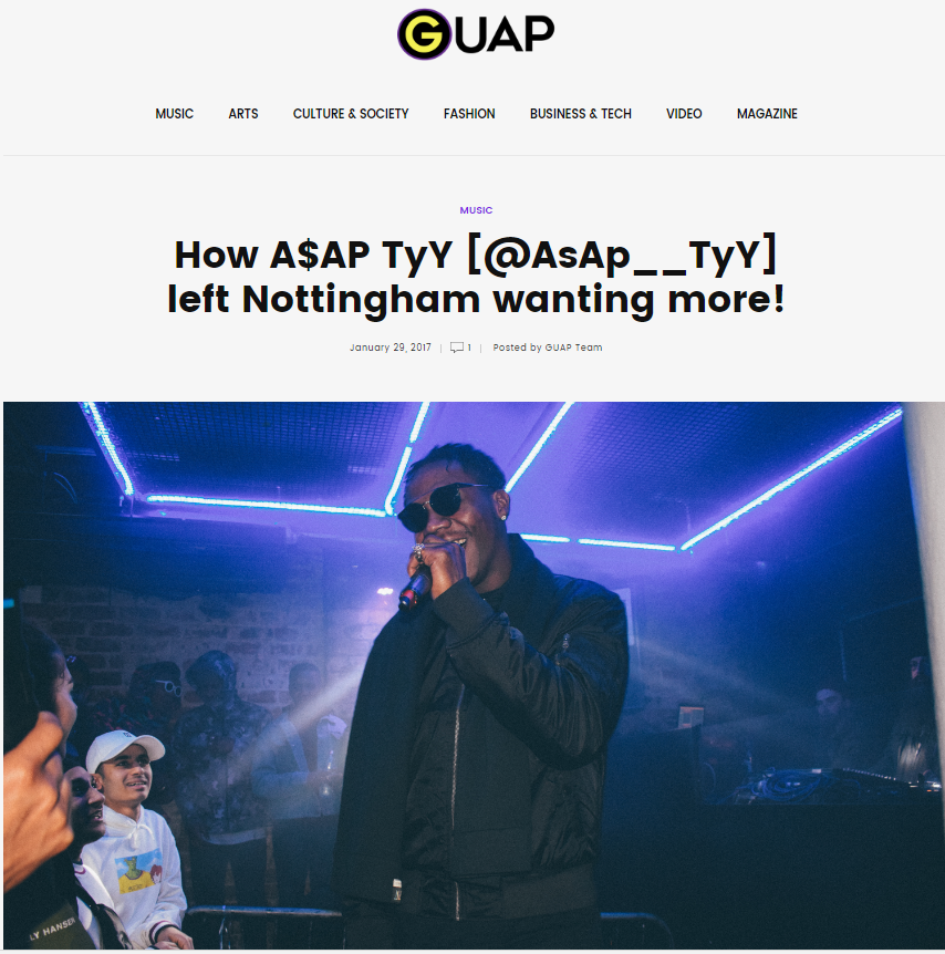 TyY gave Nottingham, & the crowd at Market Bar, an experience they would never forget.