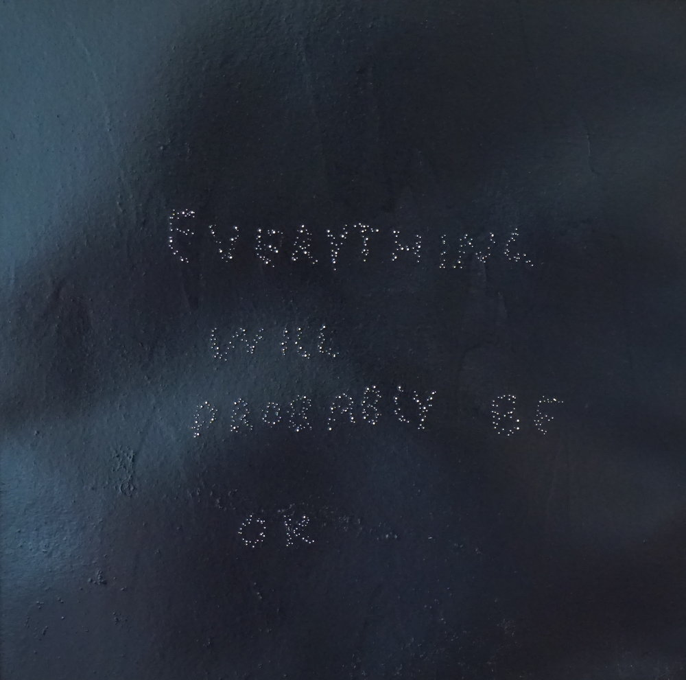Everything Will Probably Be OK , 2015, oil on perforated paper (lightbox), 40cm x 40cm