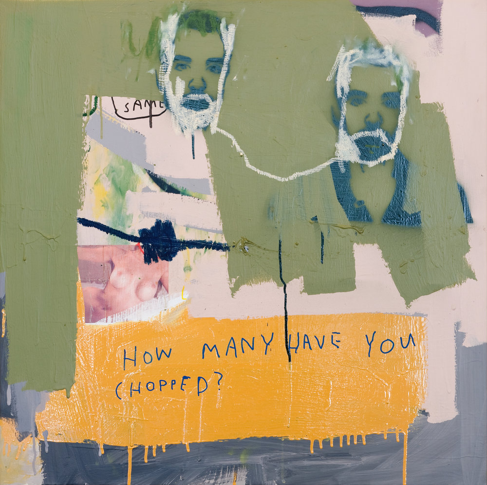 Hermano , 2012, acrylic, enamel, oil stick and ink on canvas, 100cm x 100cm