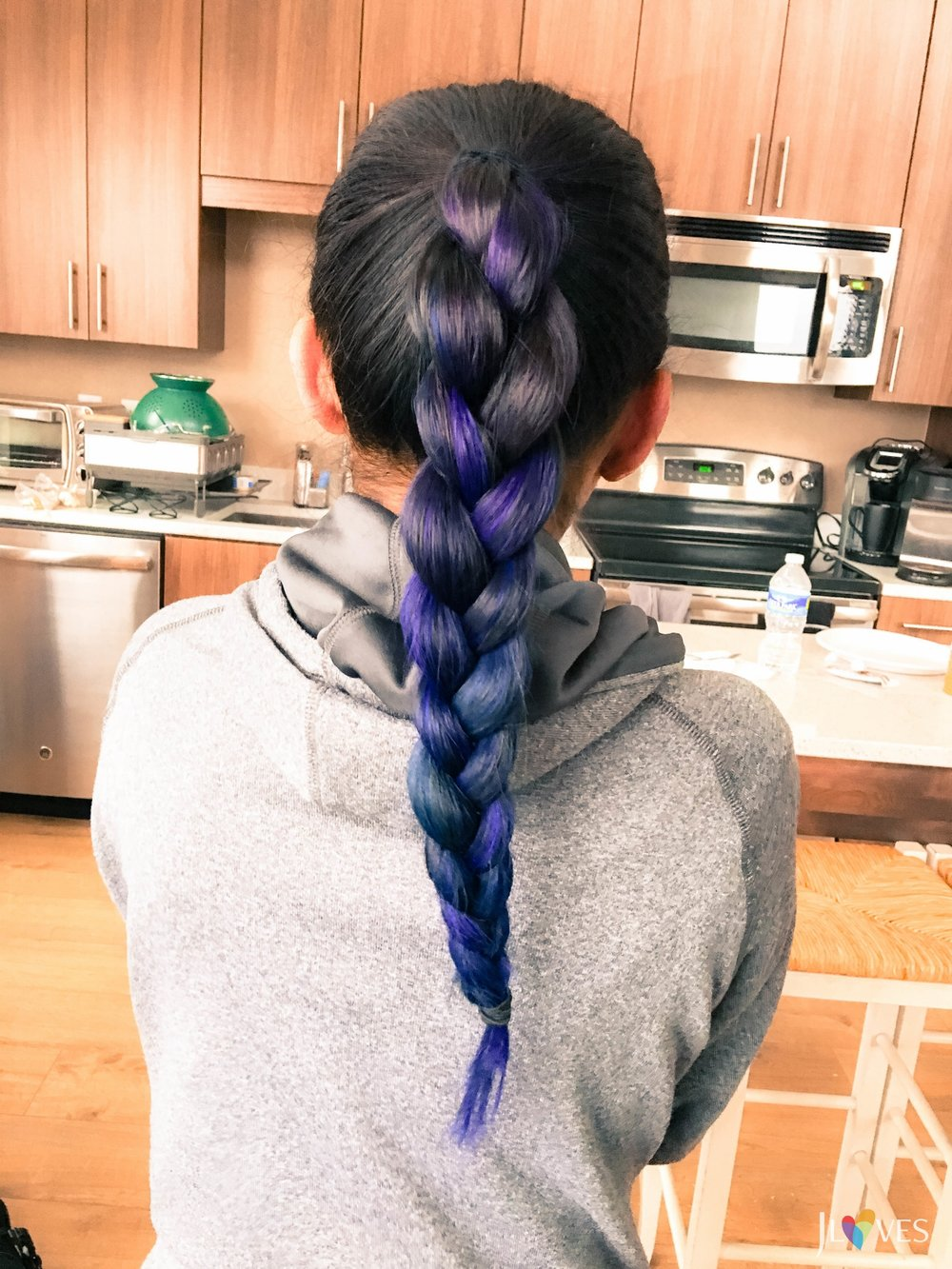 The ombré in a braid