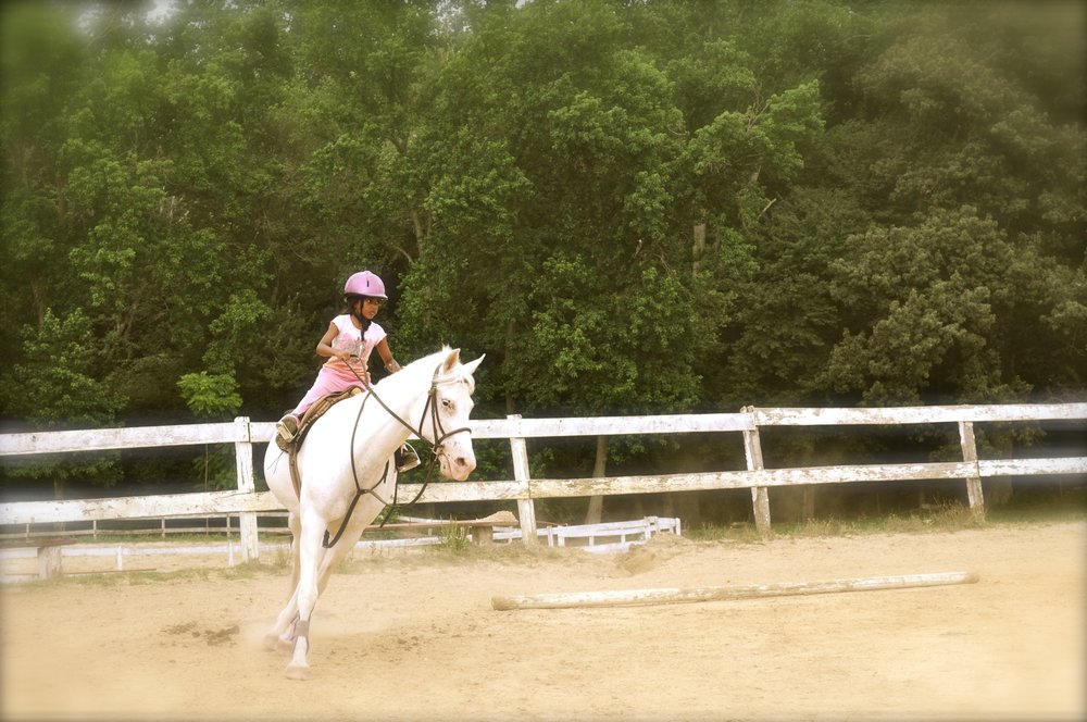 Natalie (at 8 years old) riding Snowflake in July 2011 xoxoxo =)