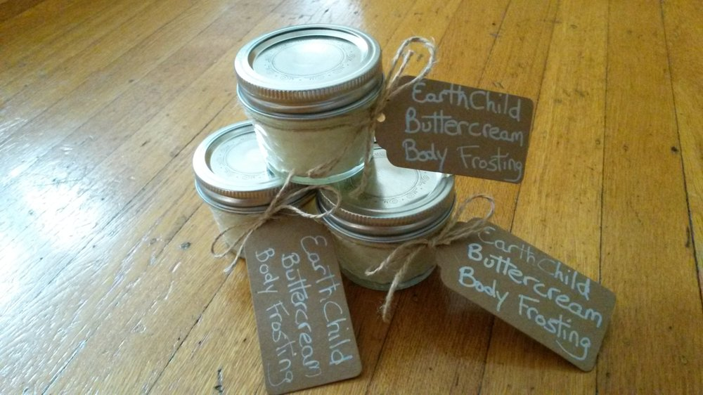 The first batch of EarthChild body butter ever sold!