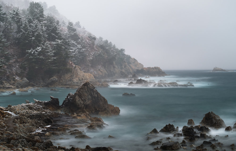 A beautiful morning quickly turned into a stormy day on this winter coastal trip in South Korea. I love traveling with my Fujifilm digital camera it's always ready for anything.
