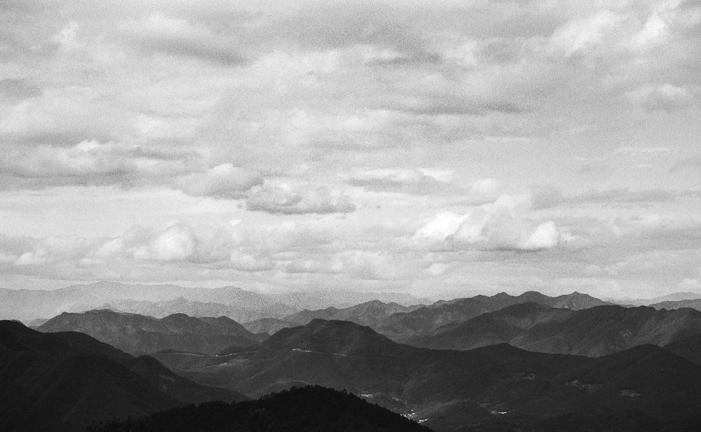 A beautiful cloudy day made for a dynamic photo with the clouds and this mountain range as a subject.  Shot on my Canon AE-1 film camera.