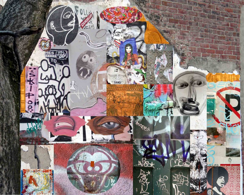 Graffiti Chain, archival digital collage print, varied sizes