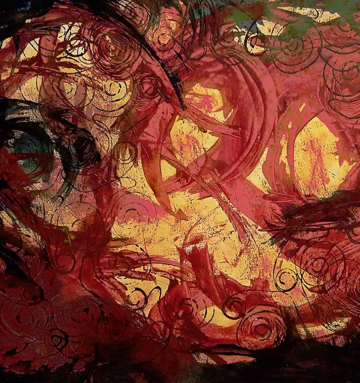 Solstice Vortex 2, acrylic/mixed media