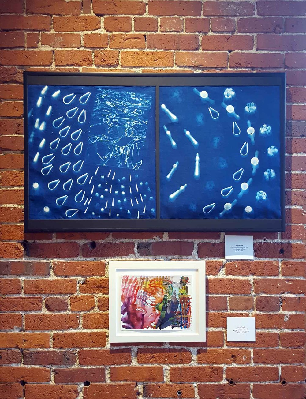 Cyanotypes + Paintings, three person exhibit, Chester Sidell Gallery, EAC