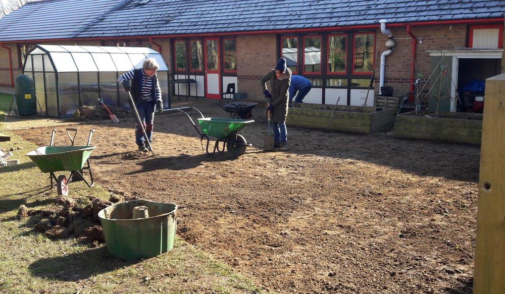 Incredible School Garden Under Construction