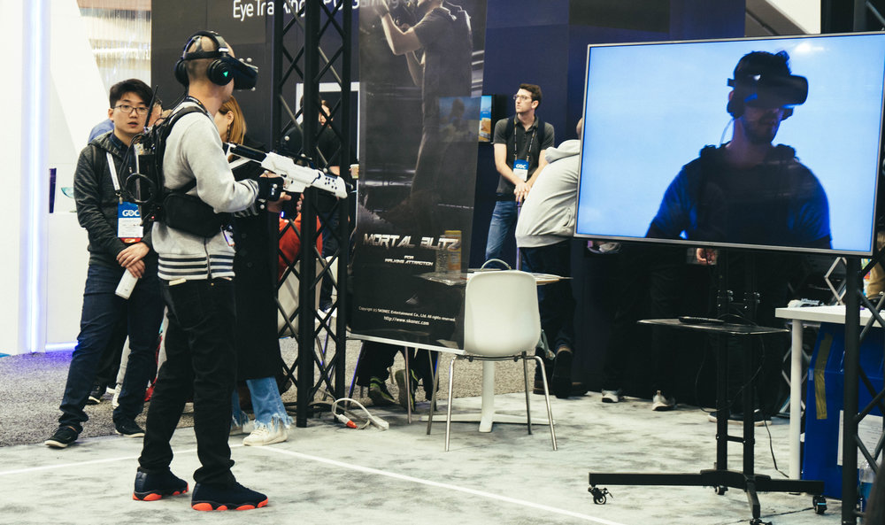 We also got to roam Moscone and try out the latest and greatest gaming and VR gadgets.