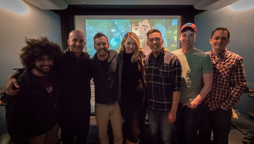 Leo, Mike, Kevin, Sara, Neth, marketing manager Andrew Dudley, and Steve, at the end of a long but exhilarating weekend.