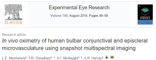 Conjunctival oximetry paper on EER