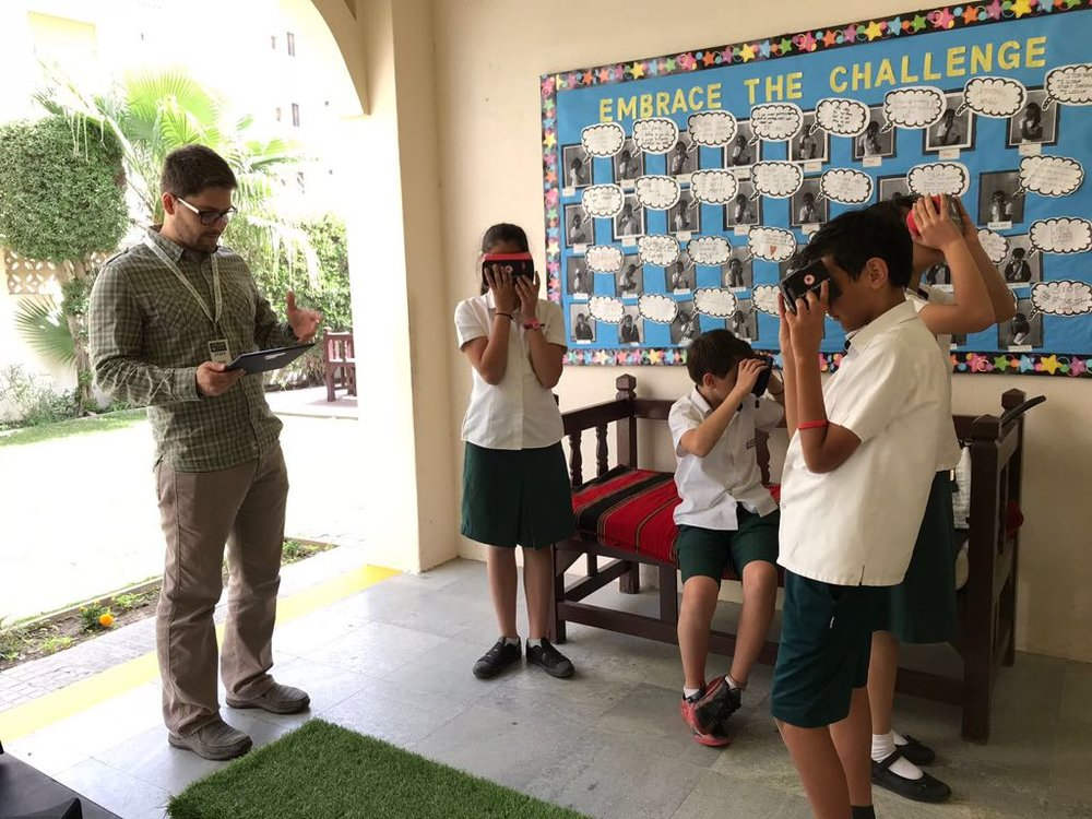 Students at Nadeen School Bahrain immersed in VR lessons with Google Expeditions