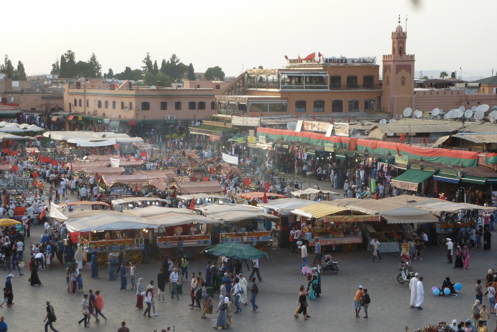 Marrakech's Busy Square Djemaa el Fna