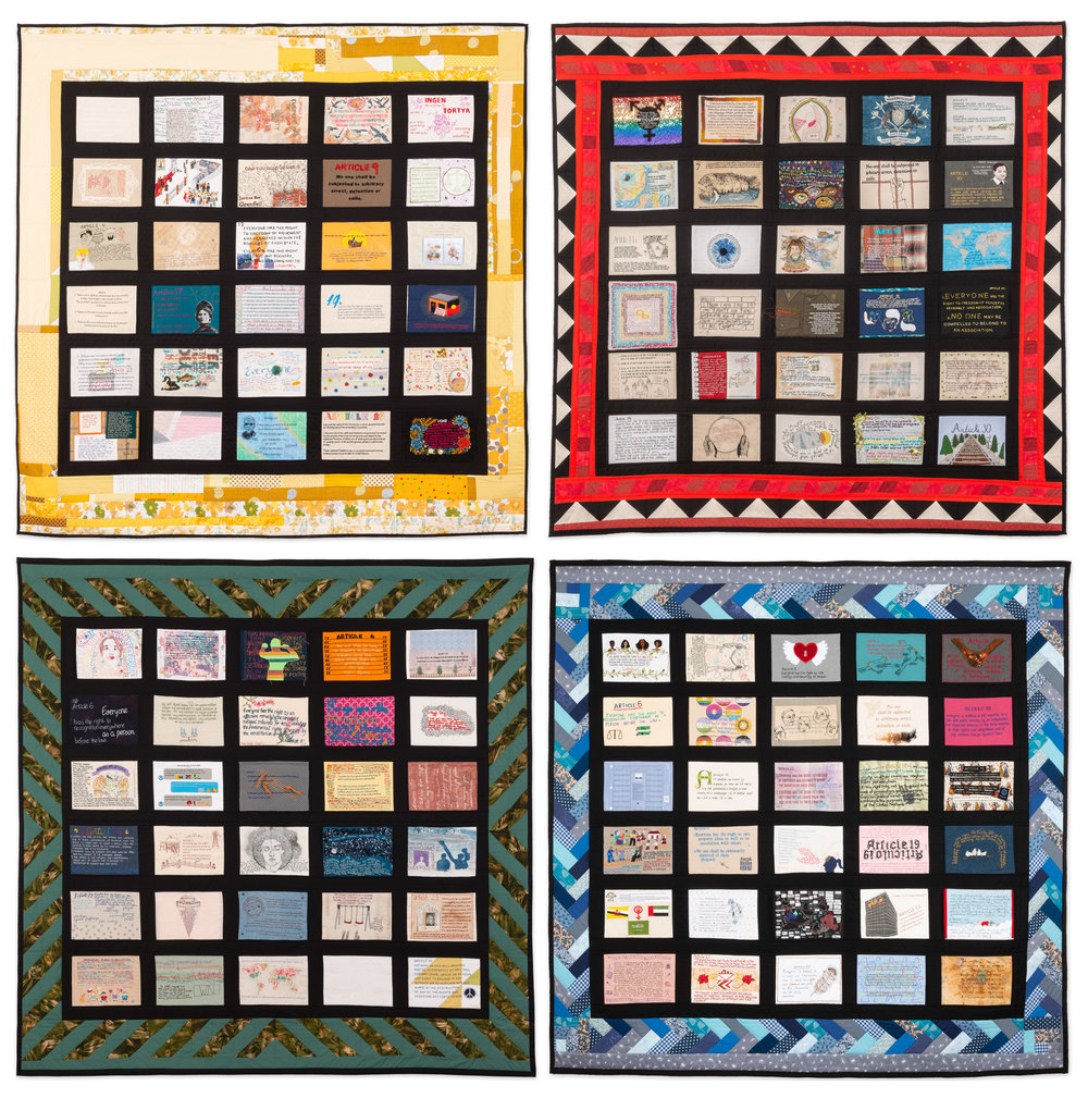 Four quilts courtesy of Tal Fitzpatrick